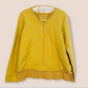 Neon Buddha   Mustard Cable Knit Back Top S